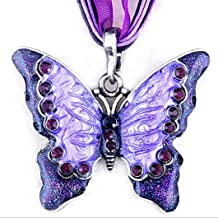 FimKaul Women Fashion Jewelry Butterfly Crystal Pendant Necklace Chain