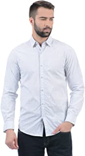 Pepe Jeans Mens White Slim Fit Casual Shirts