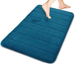 Yimobra Memory Foam Bath Mat Large Size 31.5 X 19.8 Inch Maximum Absorbency Non-Slip, Memory Foam, Peacock Blue, 31.5 * 20...