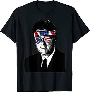 Vintage Bill Clinton USA Flag Sunglasses and Bandana T Shirt T-Shirt