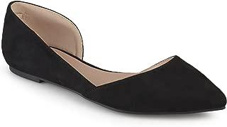 Womens Faux Suede D'Orsay Flats Black, 11 Regular US