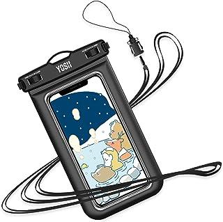 YOSH 防水ケース スマホ用 最大7インチ対応 Iphone 12mini 12シリーズ Android携帯 に対応 IPX8 お風呂用 水中 撮影 タッチ可 顔認証 風呂 水泳 釣り 海 プール 旅行 雨