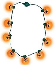 Windy City Novelties LED Light Up Halloween Pumpkin Jack O Lantern Necklace Party Favors