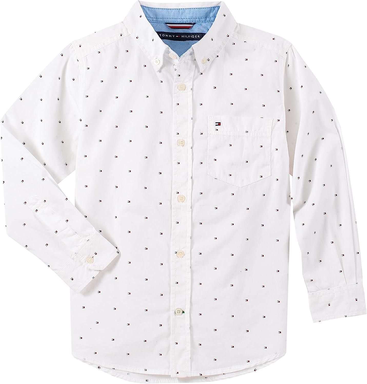 Tommy Hilfiger Boys' Ellison Long Sleeve Woven Shirt