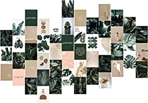 UCOMELY Botanical Wall Collage Kit Aesthetic Pictures, Boho Plants Posters, Aesthetic Room Decor for Teen Girls, Easy to Install, for Living Room, Bedroom, Bedside, New Home Decoration, Housewarming Gifts 4