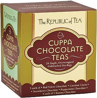 The Republic of Tea Cuppa Chocolate Tea Assortment, 24 Tea Bags, Low Calorie Chocolate Dessert Tea