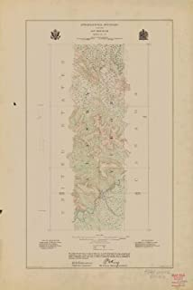 Map - International Boundary, Along The 141St Meridian, Sheet No. 13, AK, 1914 NOAA Topographic - Vintage Wall Art - 44in x 66in
