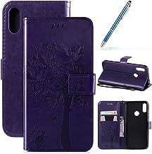 Robinsoni Case Compatibel met Huawei Honor 8A Case PU Lederen Case Portemonnee Case Glossy Bling Cover Glitter Notebook Ma...
