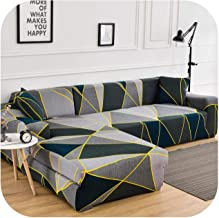 Sofa Cover:Couch Cover Sectional Sofa Cover for Living Room L Shaped Sofa Elasticgeometric Printed (Need to Buy 2 Pieces T...