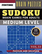 Medium Sudoku: Jumbo 300 SUDOKU medium puzzle books with answers brain games for adults Activity book (sudoku medium puzzle books Vol.33)