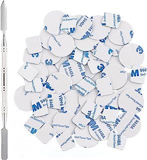 Allwon 56 stks metalen stickers voor magnetische palet lege oogschaduw make-up palet + depot spatel (28 stks ronde + 28 st...