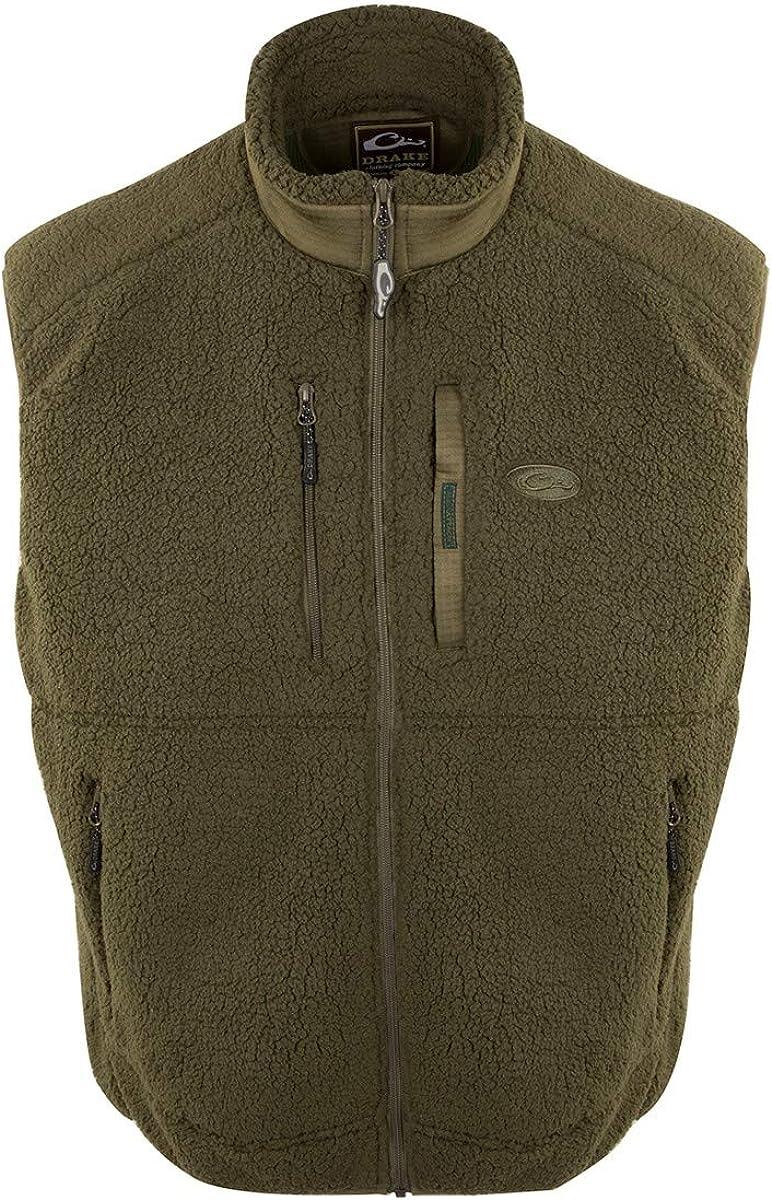 Drake Sherpa Fleece Layering Vest Olive/Dark Green 3XL