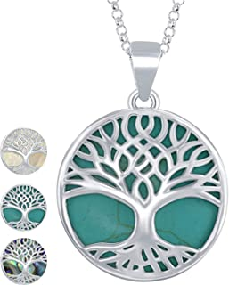 Sterling Silver Natural Turquoise/Abalone/Mother-of-Pearl...