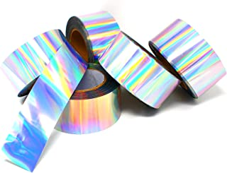 50m x 6 cm folie tape Clear Back hologram folie sectie Oilslick zilver regenboog effectfolie knutselfolie plakfolie sticke...