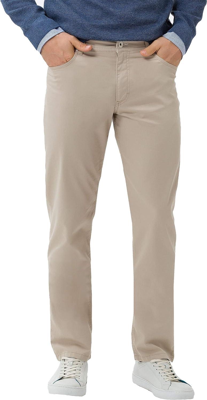 BRAX Men's Cooper Fancy Marathon Supima Flachgewebe Five Pocket Uni Trouser Beige (Beige 56)