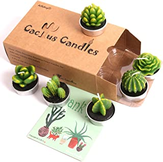 AiXiAng Handmade Delicate Cactus Decor Succulent Cactus Tealight Candles for Birthday Party Favors Wedding Spa Decoration Home Decor Gift