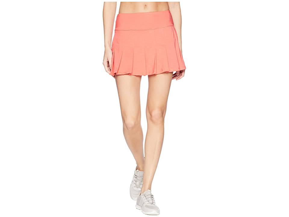 Eleven by Venus Williams Goddess Collection Flutter 13 Skirt (Coral) Women's Skirt