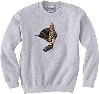 Nighttime Chessie the Sleeping Kitten Railroad Sweatshirt Adult XL [20019gry]