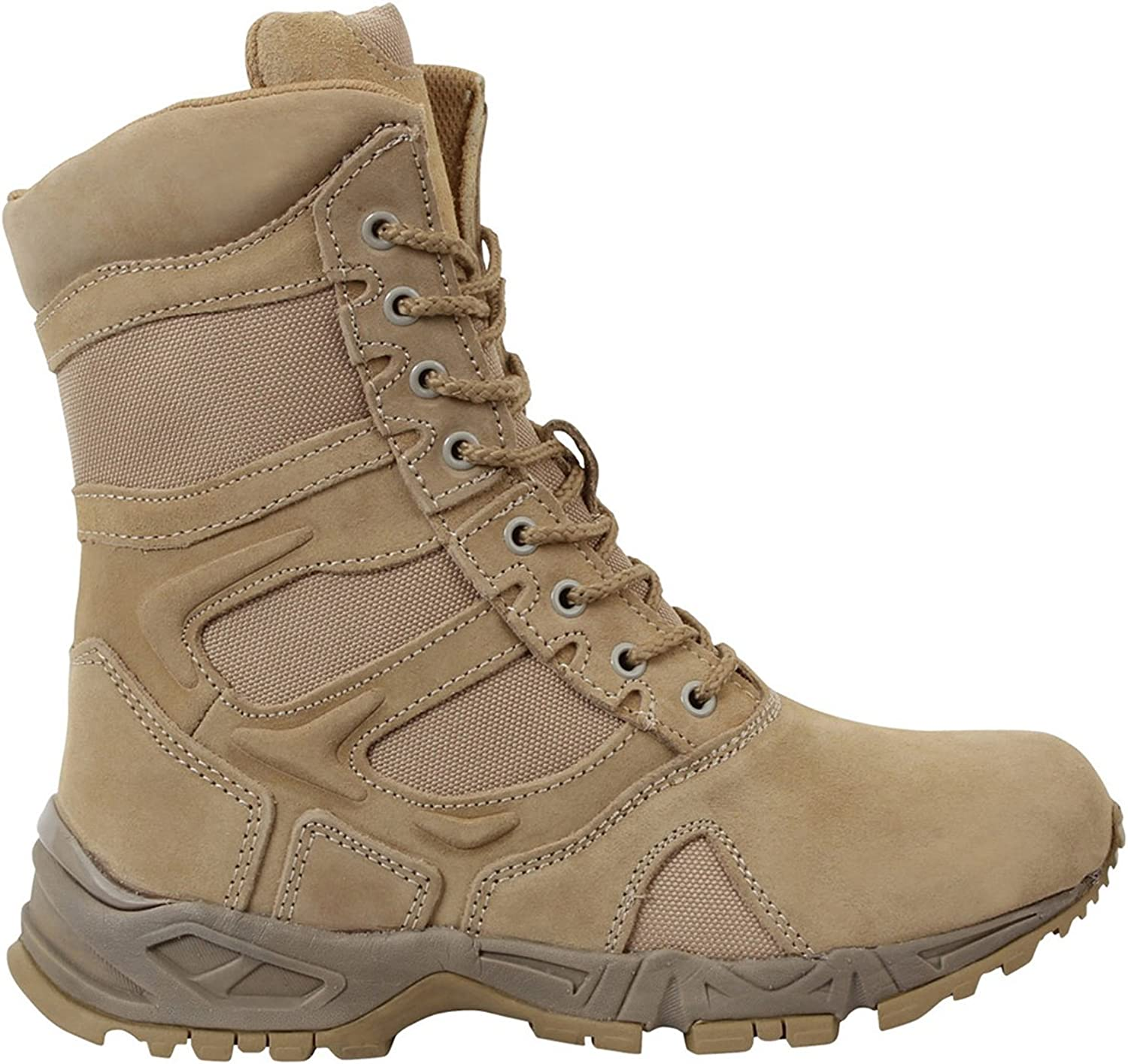 redhco 8  Forced Entry Desert Tan Side Zip Boot