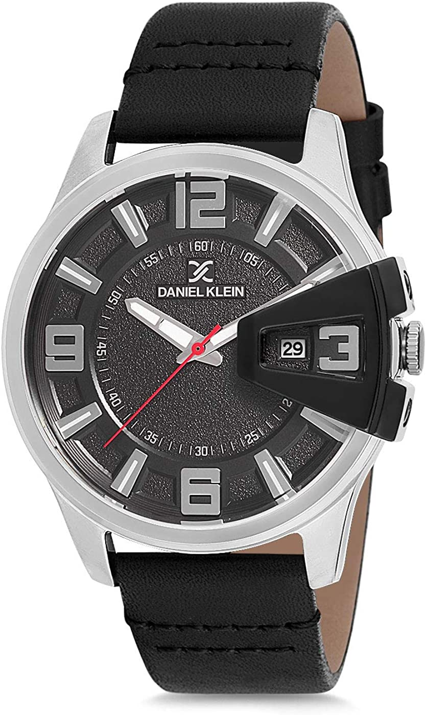 Daniel Klein Men's Wrist Watch Leather Max 81% OFF DK12161 Italian New product type -