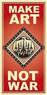 Culturenik Make Art Not War Political Motivational Quote Decorative Print (Unframed 12x24 Poster)