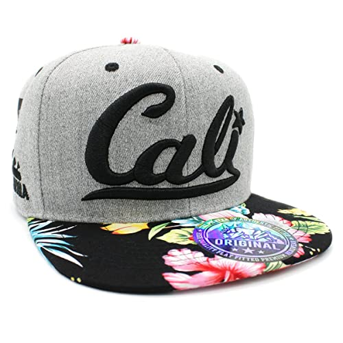 LAFSQ Embroidered CALI with California MAP Snapback Cap f5f05ac41d5a