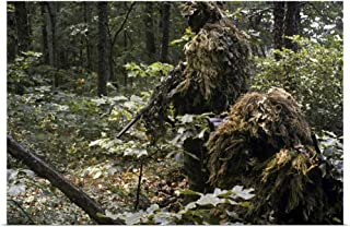 GREATBIGCANVAS Poster Print A Marine Sniper Team Wearing Camouflage Ghillie Suits by Stocktrek Images 18