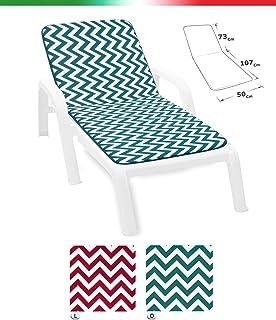 ARREDIAMOINSIEME-nelweb - Cojín para tumbona universal moderno, de rayas, plegable para piscina, playa o jardín. Tela de algodón, modelo Lima