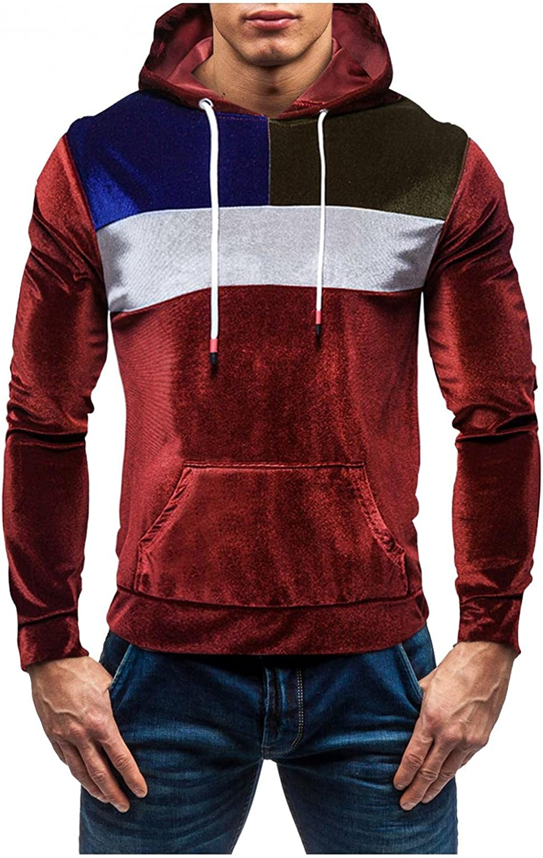 Men's Fleece Drawstring Hooded Max 57% OFF Sweatshirt and Vel Super-cheap Winter Autumn