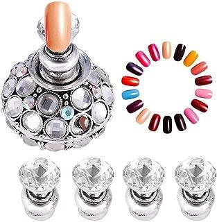 Expositor De Uñas - Delaman False Nail Tips Holders, Tablero De Ajedrez Magnético Nail Art, Gel Uv Polish Herramientas De Manicura Para Entrenamiento Práctico (Color : Silver)
