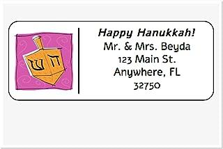 Personalized Address Labels, Happy Hanukkah Dreidel Set Of 30, Personalized Wedding Address Labels, Engagement Labels, Bridal Labels