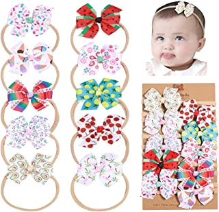 DANMY Baby Girl Super Stretchy Headband Big Lace Petals...
