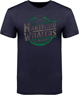 Old Time Hockey Hartford Whalers Garment Dyed Coil Navy Blue T-Shirt