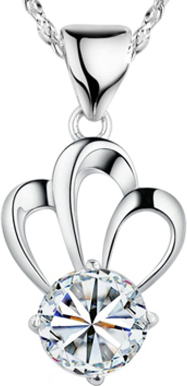 Pearl of Dream Clearance SALE! Limited time! Princess's Crown Sterling Necklace Silver Pendant Rare