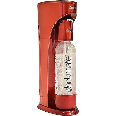 "DrinkMate - Máquina para hacer soda, Rojo, 8"" L x 5"" W x 16"" H, 1, 3.8"