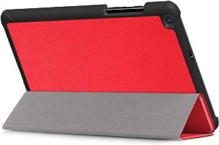 Kepuch Couro-PU Capas Bolsas Estojos para Samsung Galaxy Tab A 8.0 2019 T290 T295 T297 - Vermelho