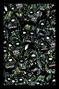 Zombies Undead Horror Movie Spooky Scary Halloween Decorations Cool Psychedelic Trippy Hippie Decor UV Light Reactive Black Light Eco Blacklight Poster for Room