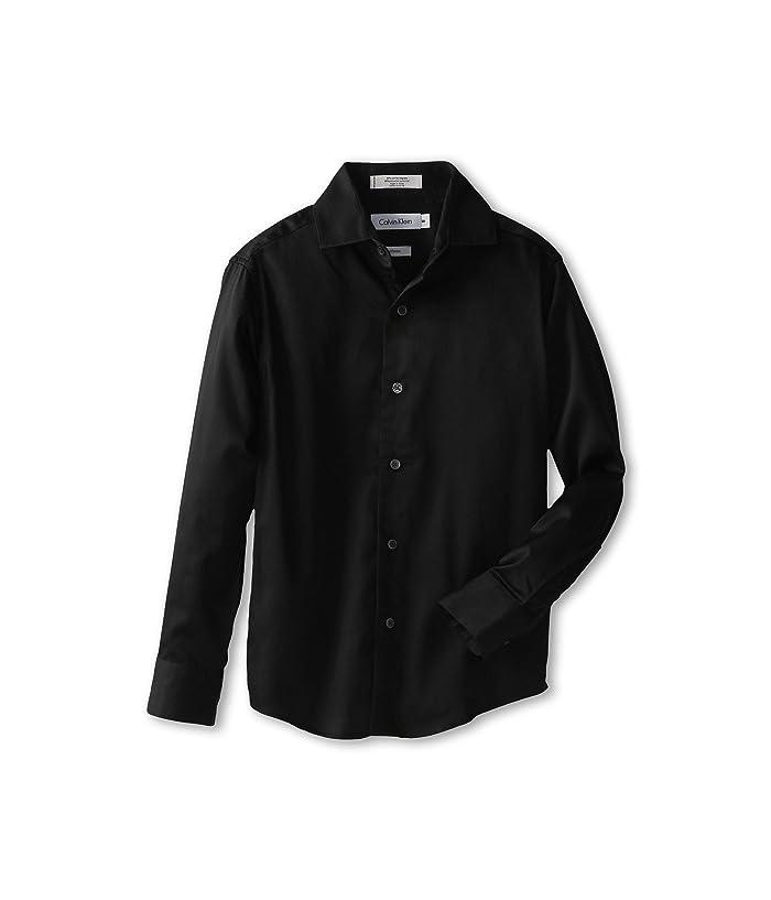 Sateen Shirt (Big Kids) (Black) Boy's Long Sleeve Button Up