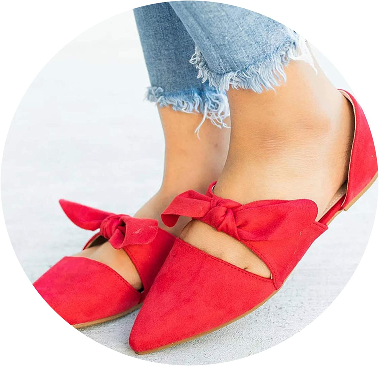 Women's Sandals Flat Summer Fashion Wedge shoes's Buckle Casual,Red,10