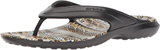 crocs Classic Graphic Flip-Flop Black/Khaki 13 US Men/15 US Women M US