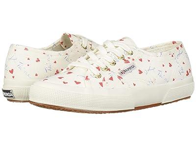 Superga 2750 Printed COTW Sneaker (Hearts Multi) Women