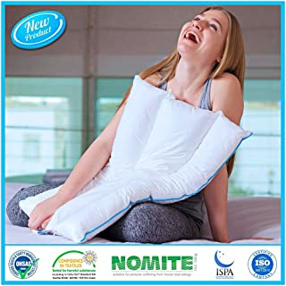Thin Flat Pillow for Sleeping | Slim Design for Back and Stomach Sleepers, Petite Body Forms & Kids | Adjustable Firmness & Density for Customized Cervical Neck Support | No Memory Foam-Cotton Cover