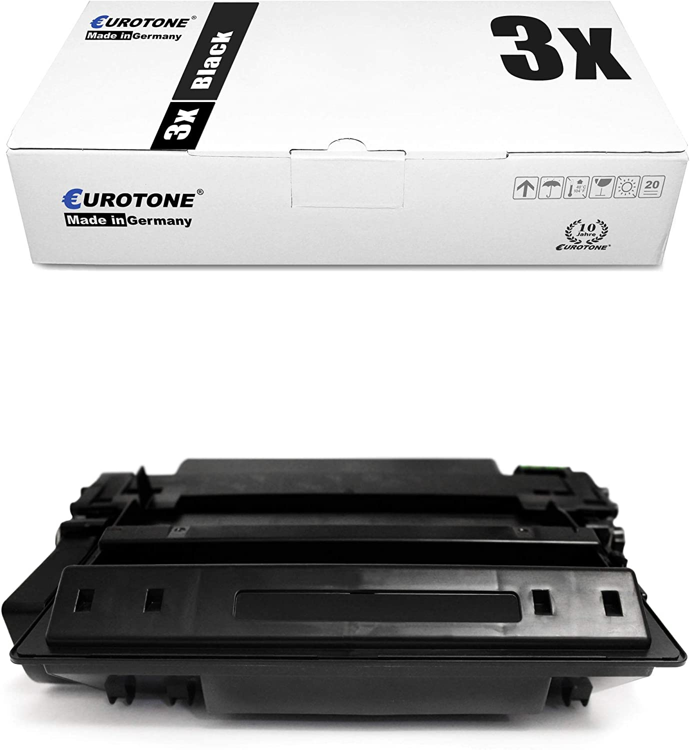 10x Eurotone Remanufactured Toner for HP Laserjet P 3011 3015 D X DN N Replaces CE255X 55X