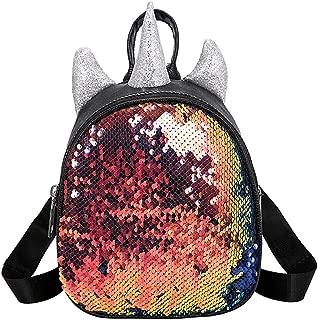 Bageek Girls Backpack Glitter Sequin Decor Mini Casual Backpack Girl Favor Travel Backpack