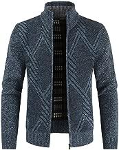 Mens Jacket Men's Autumn Winter Zipper Outwear Tops Solid Stand Collar Sweater Cardigan Coats Daorokanduhp