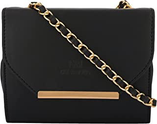 GM CREATIONS™ Latest Trendy Stylish Crossbody Leatherette Chain Sling bag With Non-Detachable Chain strap bag for Women & ...