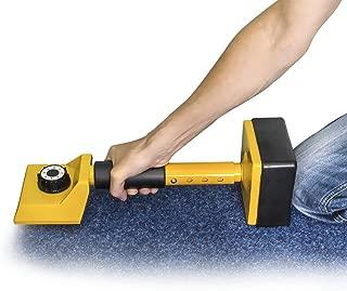 Relaxdays Adjustable Carpet Stretcher Knee Kicker Installer Fitter 16 Teeth, Yellow
