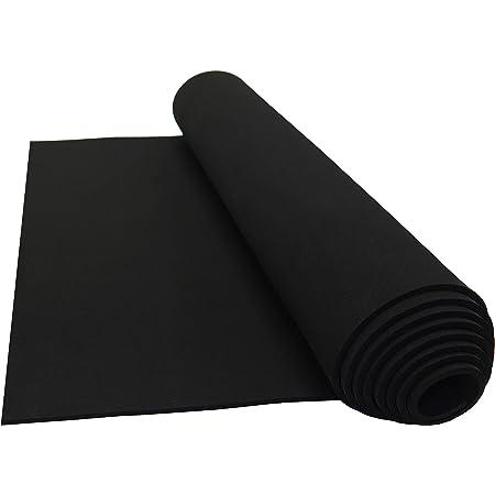 "1//2/""Thkx 12/""Wx 54/""L Neoprene Sponge Foam Rubber Sheets Black with Back Adhesive"