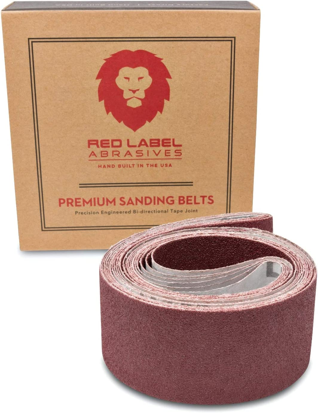Red Max 84% OFF Label Abrasives 2 X 42 Inch Grit Aluminum Oxide Metal Outlet ☆ Free Shipping 80 San