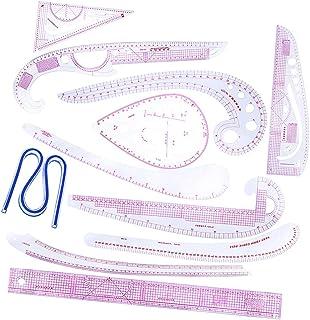 sharprepublic 縫製定規 曲線定規 描画ルーラー カーブルーラー 洋裁 デザイナー ソーイング用品 11本セット